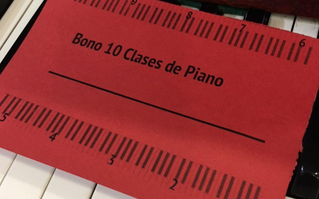 Bono de Clases de Piano – Música y Maestro